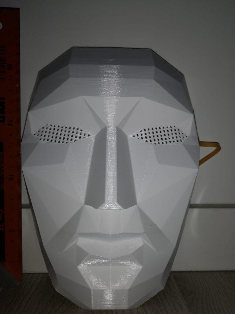 squid games mask boss white